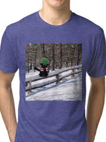 Cat Enjoying The Winter Tri-blend T-Shirt