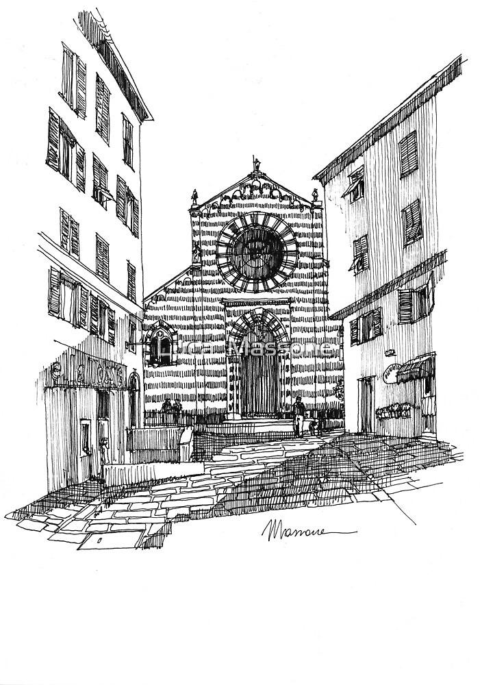 Genova piazza nel centro storico by Luca Massone  disegni