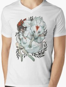 Wolf Child Mens V-Neck T-Shirt