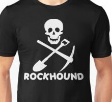 Rockhound Skull Crossed Pick & Shovel Unisex T-Shirt