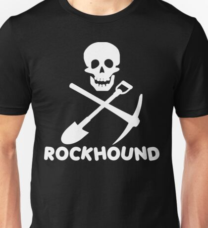 Rockhound Skull Crossed Pick & Shovel Unisex T-Shirt