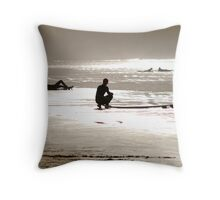 Stoked in October Throw Pillow