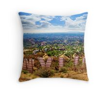 Behind the Hollywood Sign Throw Pillow