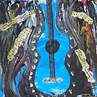 Grunge Guitar by Inner Child Art