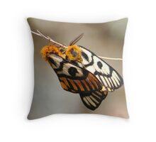 Western Sheep Moth Throw Pillow
