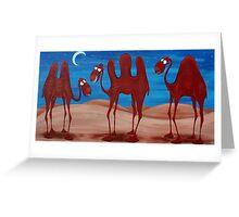 Camel Night Greeting Card