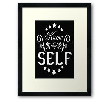 Know thyself Framed Print