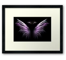 Purple Winged Cat Eyes Framed Print