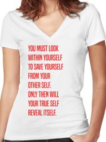 Zuko - Yourself Women's Fitted V-Neck T-Shirt