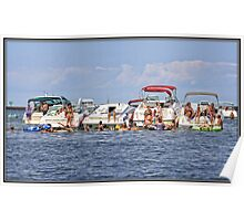 Boats on the Sandbar Poster