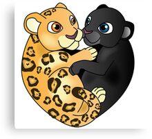 Leopard Panther Love Canvas Print