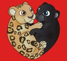Leopard Panther Love Kids Tee