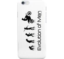 Evolution of Men- Off Road Motorcycle  iPhone Case/Skin