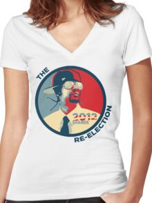 Shankk The Re-Election Women's Fitted V-Neck T-Shirt