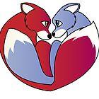 Fox love 1 by Lauren Eldridge-Murray