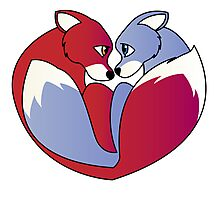 Fox love 1 Photographic Print