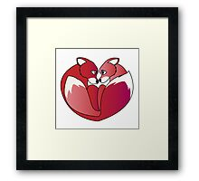 Fox love 2 Framed Print