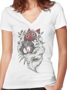 Mononoke Women's Fitted V-Neck T-Shirt
