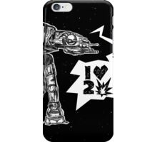 AT LOVES TO CRUSH IT iPhone Case/Skin
