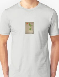 Single Red Tulip In A White Vase T-Shirt