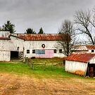 Patriotic Barn by Monte Morton