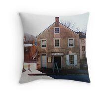 White Hall Tavern Throw Pillow