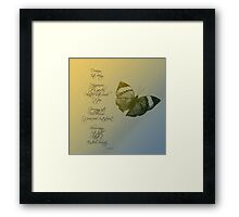 Dream Poem Framed Print