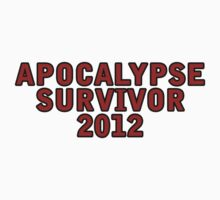 Apocalypse Survivor 2012  Kids Clothes