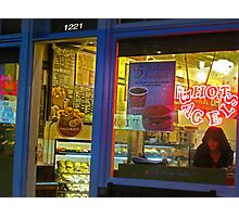 Hot Bagel on Fillmore Street Photographic Print