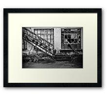 Lines In Ruin Framed Print