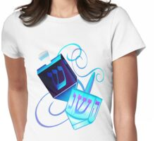 Two Dreidels-Happy Spinning Womens Fitted T-Shirt
