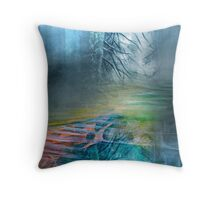 Mystery Forest Throw Pillow