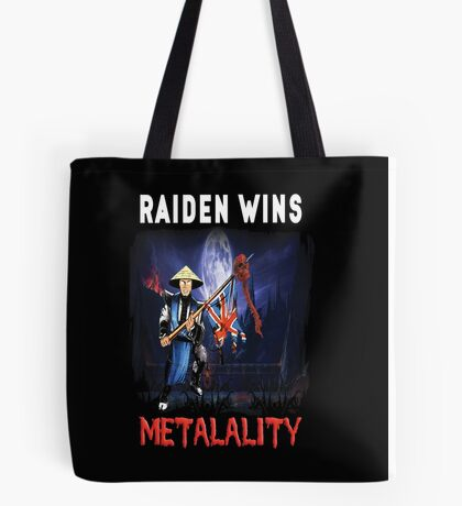 Raiden Wins Metalality (Iron Maiden) Tote Bag