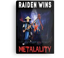 Raiden Wins Metalality (Iron Maiden) Metal Print