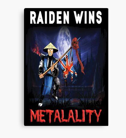 Raiden Wins Metalality (Iron Maiden) Canvas Print