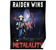 Raiden Wins Metalality (Iron Maiden) Poster