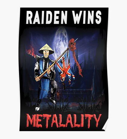 Raiden Wins Metalality (Iron Maiden) Poster