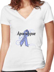 Apocalypse Survivor Women's Fitted V-Neck T-Shirt