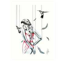 La Dame en Rouge Art Print