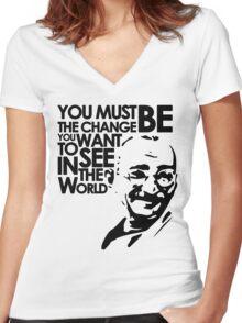Gandhi Women's Fitted V-Neck T-Shirt