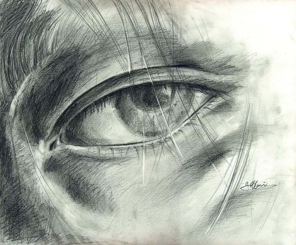 Eye Drawing by Hiroko Sakai