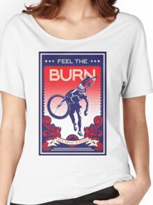 Feel the Burn retro cycling poster Women's Relaxed Fit T-Shirt