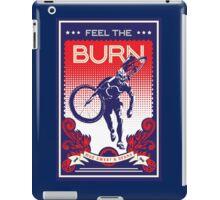 Feel the Burn retro cycling poster iPad Case/Skin