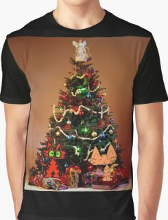 Two Cats Are Ready For Christmas Graphic T-Shirt