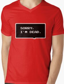 "Monster Party - ""SORRY, I'M DEAD."" Mens V-Neck T-Shirt"