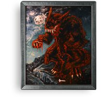 The Werewolf Thwlbr'x Canvas Print