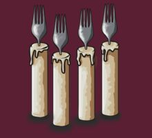 Fork Handles / Four Candles | Two Ronnies T-Shirt by Jessica E Pattison