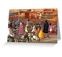 Jaipur,Street Scene Greeting Card