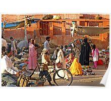 Jaipur,Street Scene Poster