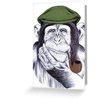 Wise Mr Chimp Greeting Card